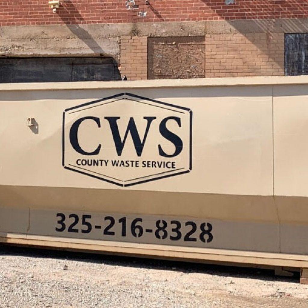 County Waste Service CWS rolloff box