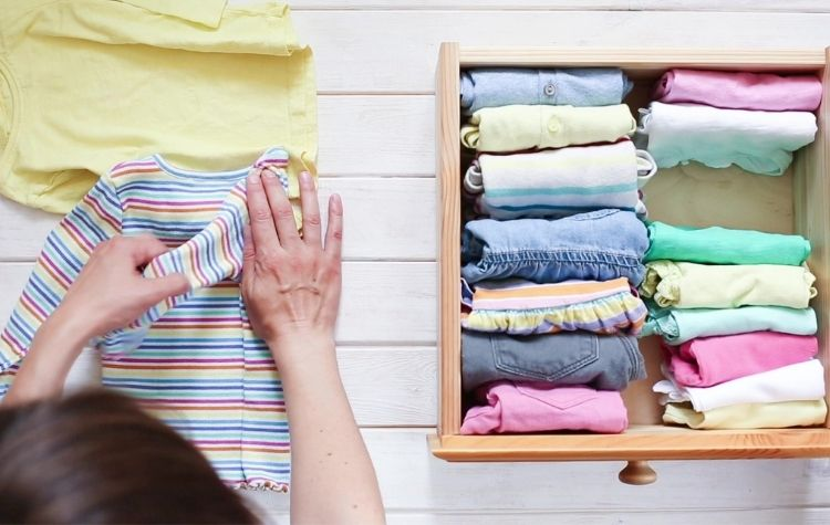 Fold roll your clothes to save space